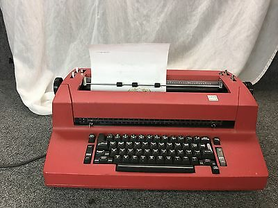 Rare RED IBM Selectric II Correcting Electric Typewriter... NEEDS A TUNE-UP