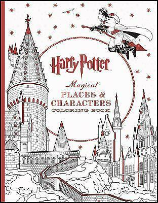 Harry Potter Magical Places and Characters Coloring Book (2016, Paperback)