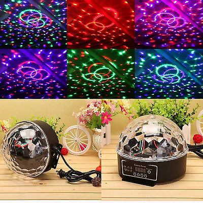 Stage Disco DJ Light Digital LED RGB Crystal Magic Ball Party Effect Lighting UK