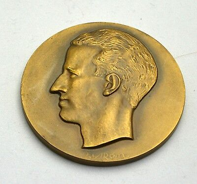 1960's Belgium Medallion in Honor of King Baudouin by Eyiron