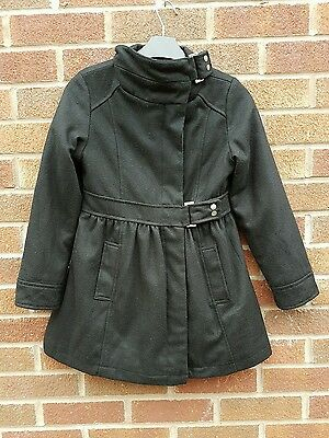 Marks and Spencer Autograph wool mix  black Coat 9 - 10 Years school winter wear