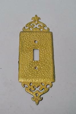 Antique Gothic Revival Cast Brass Light Switch Plate Cover