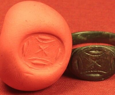 Ancient Roman Legionary Seal Ring, Finger Ring, 3. Century