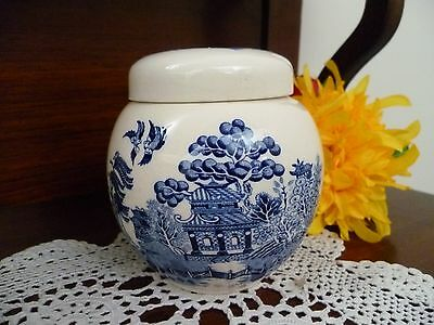 Sadler Blue Willow Patern Lidded Jar Made In  England