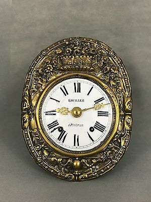 French Wall Clock Morbier Comtoise Old Antique