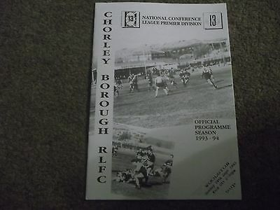 Chorley Borough V Woolston National Conference League 19Th September 1993