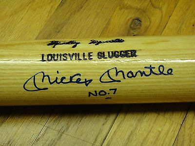 Mickey Mantle No. 7 Upper Deck Authenticated Uda Signed Autographed Bat Mint!