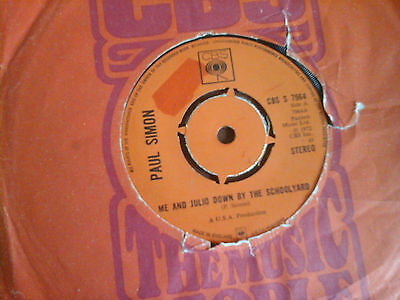 "Paul Simon ""me And Julio Down By The Schoolyard/congratulations"" 7"" Single 1972"