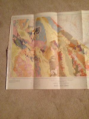 VINTAGE Geologic Map of California - DEATH VALLEY SHEET - 1958