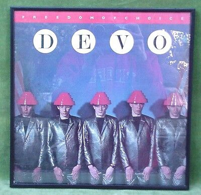 Vintage Devo Freedom Of Choice Record Album With Frame