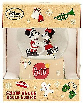 Disney Mickey Mouse 2016 Mickey Mouse & Minnie Mouse Snowglobe Exclusive Snow...