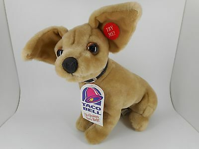 """TACO BELL - Talking Chihuahua Dog - With Tags - 9"""" Plush Toy - 1998 Issue"""