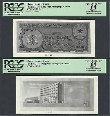 Ghana One Cedi ND(1966)  Pick Unlisted Face - Back Photographic Proof