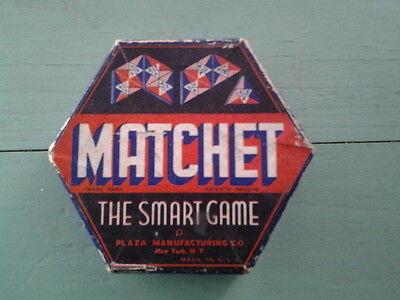 "Vintage Game of Matchet ""The Smart Game' by Plaza MFG Circa 1930"