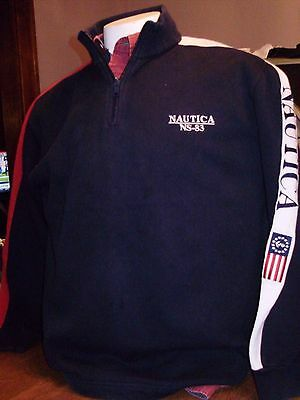 VINTAGE 90's NAUTICA NS-83 SAILING COLORBLOCK 1/4 ZIP PULLOVER large