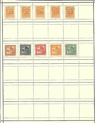 (R6) El Salvador Classic Stamps Hinged On Page