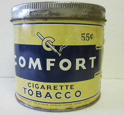 Vintage 55 CENT COMFORT TOBACCO TIN Can HOUDE GROTHE LTD MONTREAL CANADA