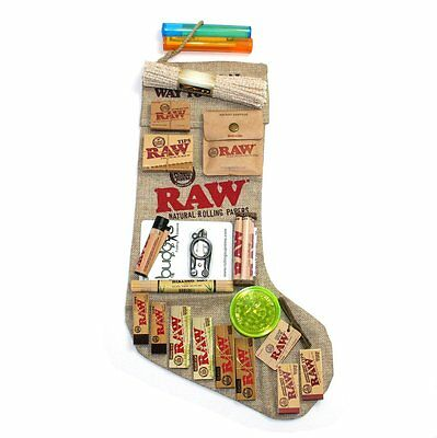 Raw Rolling Papers Santa Gift Pack Xmas Bundle! Papers/tips/lighter/more!