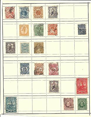 (R) Uruguay Classic Stamps Hinged On Page