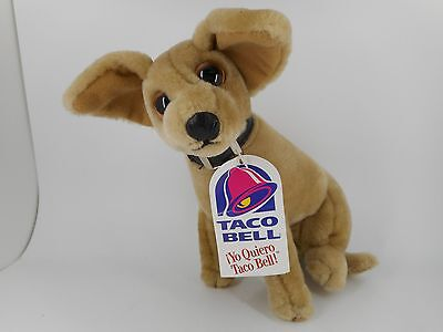 """TACO BELL - 7"""" Chihuahua Dog Plush Toy - With Tags - HTF 1998 Issue"""