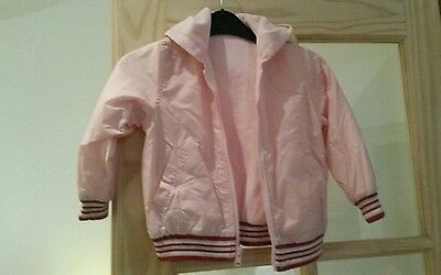 marks and spencer girls pink reversible jacket age 3 - 4 years