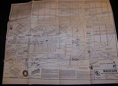 Full Size Plan Of The Model Magician. C/l Model By Midwest