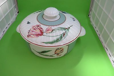 1.5 Qt Round Covered Casserole - No.1 Bloomfield Street - Discontinued Pattern