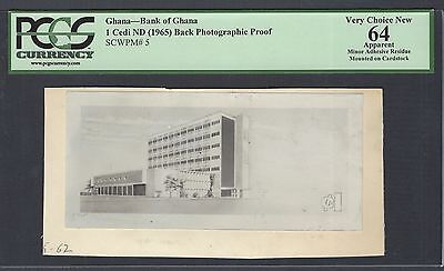 Ghana One Cedi ND1965  Pick Unlisted Back Photographic Proof