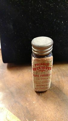 Antique Medicine Cure Pharmacy Poison friable triturates codine phosphate