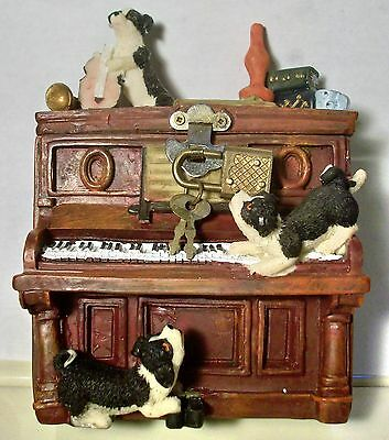 Vintage Locking Money Piggy Bank - Dogs on a Piano