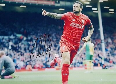 Hand Signed Ings 2015/16 Liverpool 12x8 Photo With Exact Photo Proof