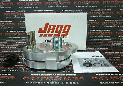 Jagg Off-Set Oil Cooler Adapter Fits Fuel Injected Evo & Twin Cam J4600