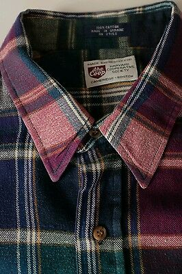 Harvard Co-Op Flannel plaid shirt Ivy League Americana