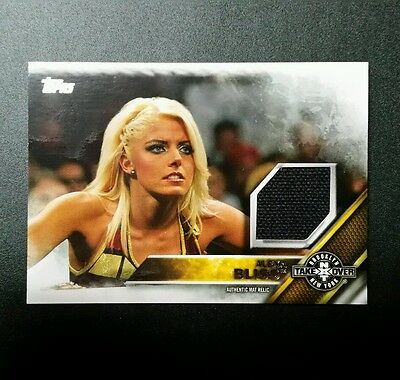 WWE Topps 2016 Alexa Bliss NXT Takeover Brooklyn Mat Relic  0166/199