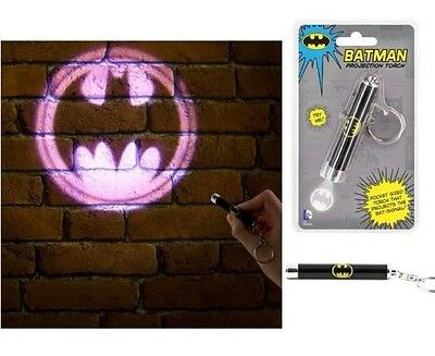 Batman Logo Projection LED Torch Keyring Cool Novelty Christmas Torch Gift