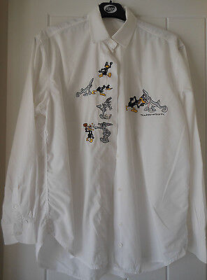 EMMANUEL SCHVILI women's shirt with embroidered cartoon characters Size M USED