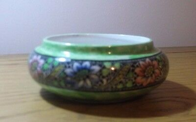 A Beautiful Green Maling Dish with center lace border in very good condition