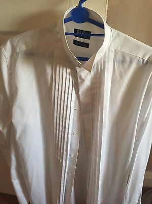 Men,s White Evening Shirt