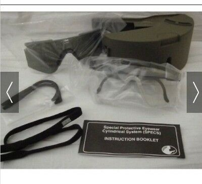 Usgi Special Protective Eyewear Cylindrical System Specs Spectacle Kit Military