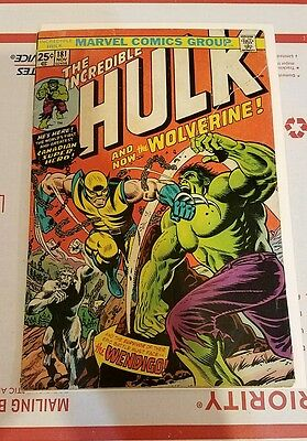 The Incredible Hulk #181 (Nov 1974, Marvel) MVS INTACT.. RIPPED TAPED COVER