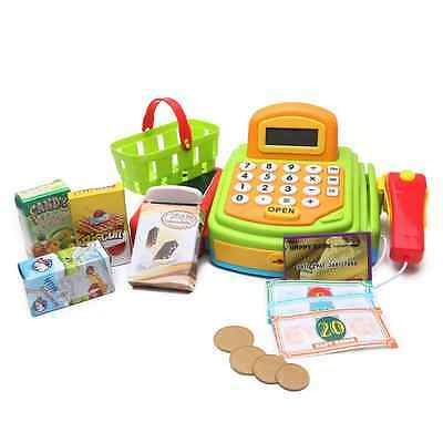 Pretend Play Electronic Cash Register Toy With Realistic Actions & Sounds