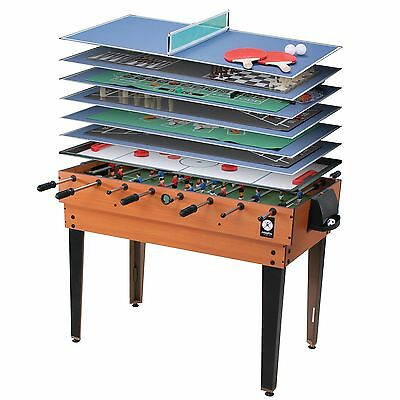 Miweba Table fussball 15 in 1 Game table Multigame Kicker Billiard Multifunction