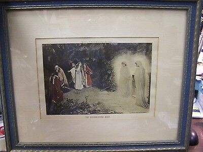 Antique Print - The Resurrection Morn - Louis Wolff 1915 - Framed And Matted