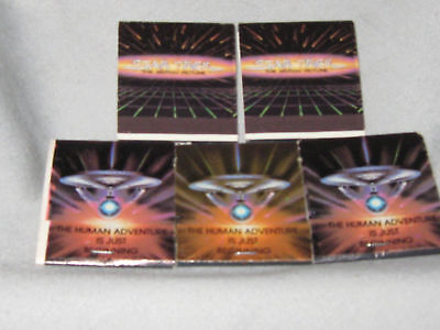 STAR TREK Matchbooks (THE MOTION PICTURE) Set of 5 PLUE 4 Button Set