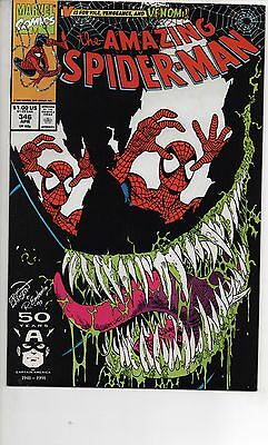 Amazing Spider-Man #346 & 347 Nm 1991 Venom Covers By Eric Larsen!