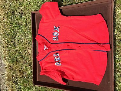 Genuine Boston Red Sox Red/Blue.Button Front jersey/top. 2007. Size 7 BNWOT