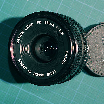 Canon FD 35mm f2.8 Lens with caps