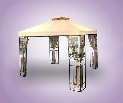 New 10x10 Replacement Garden Patio Gazebo Canopy Top Shade 10'x10' Beige