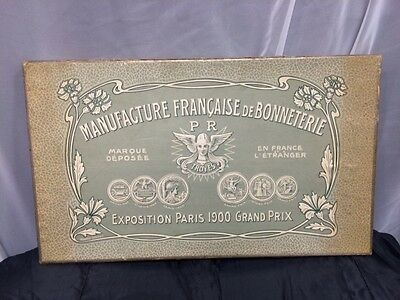 Antique French 1900's knitwear in its original box and packaging!