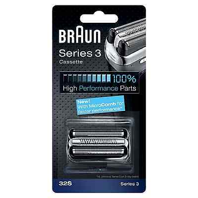Braun 32S Series 3 Electric Shaver Replacement Foil and Cassette Cartridge -